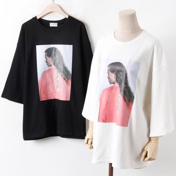 [현재분류명],빅사이즈 808 루즈핏 나염 티셔츠 DMO2996 여성의류,