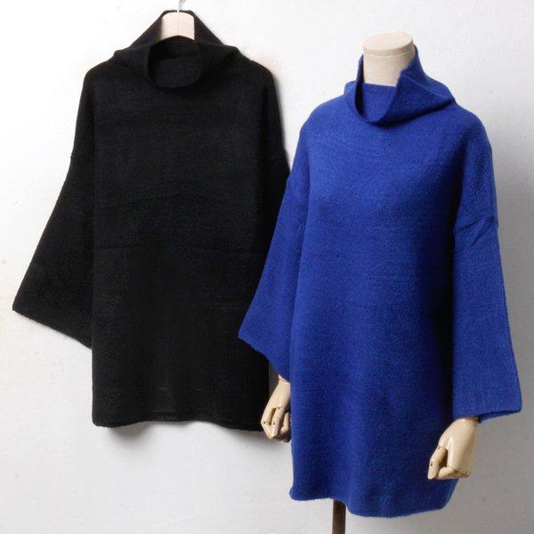 쿠루넥 롱 폴라 티 RM3350M810  도매 배송대행 미시옷 임부복