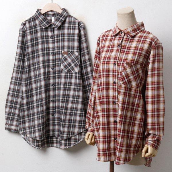 가을 포켓 체크남방 MN3366M810  도매 배송대행 미시옷 임부복
