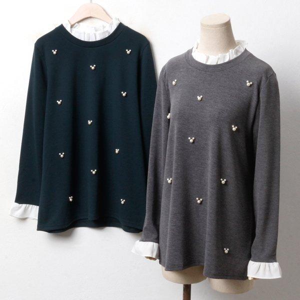 귀요미 펄 배색셔츠 BG3378M810  도매 배송대행 미시옷 임부복