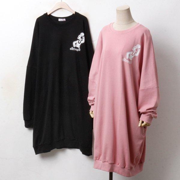큐티 맨투맨 원피스 PO3397M810  도매 배송대행 미시옷 임부복
