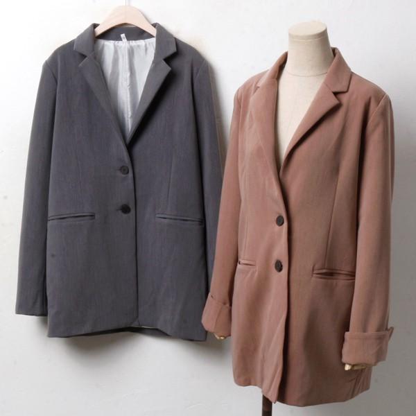 투버튼 입술자켓 PG3400M810  도매 배송대행 미시옷 임부복