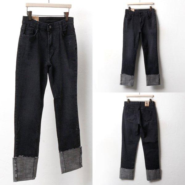 빅롤업 블랙 일자진 DO3429M810  도매 배송대행 미시옷 임부복