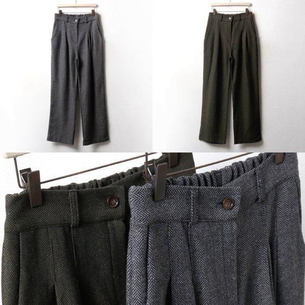 헤링본 핀탁 슬랙스 NN3431M810  도매 배송대행 미시옷 임부복
