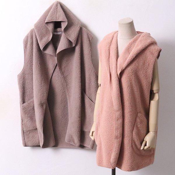 보들 양털 후드조끼 ZY3659M811  도매 배송대행 미시옷 임부복