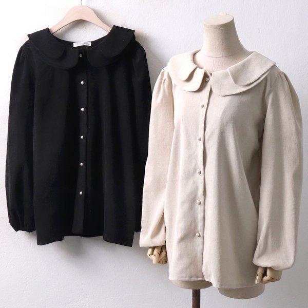 꽃카라 펄 블라우스 BA3741M811  도매 배송대행 미시옷 임부복