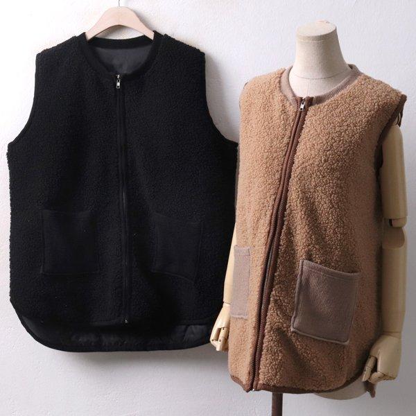 골지양털 베스트 EB3926M812  도매 배송대행 미시옷 임부복