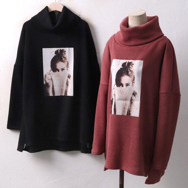 소녀 풍성 터들넥티 OL3934M812  도매 배송대행 미시옷 임부복