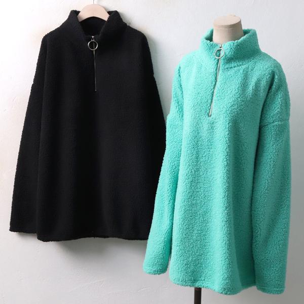 뽀송양털 지퍼 티 MS3935M812  도매 배송대행 미시옷 임부복