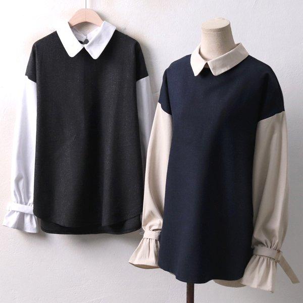 퍼프 헤링 블라우스 BA3936M812  도매 배송대행 미시옷 임부복