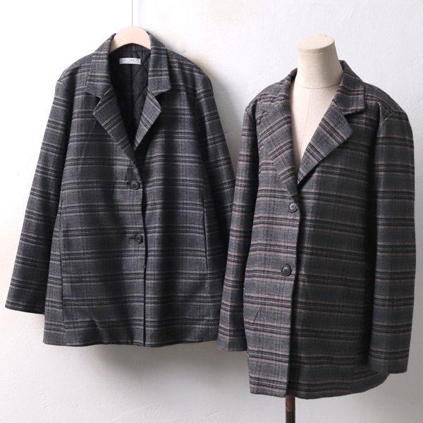 테일러드 체크 자켓 LT3941M812  도매 배송대행 미시옷 임부복