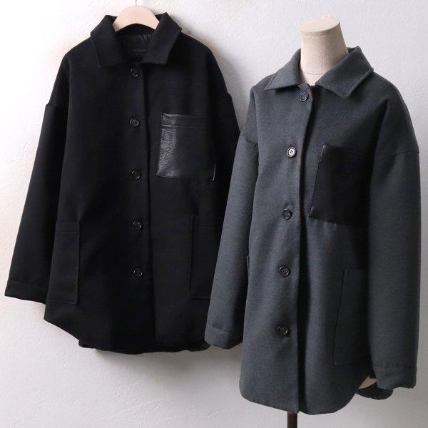 레더 패치포켓 자켓 DN3955M812  도매 배송대행 미시옷 임부복