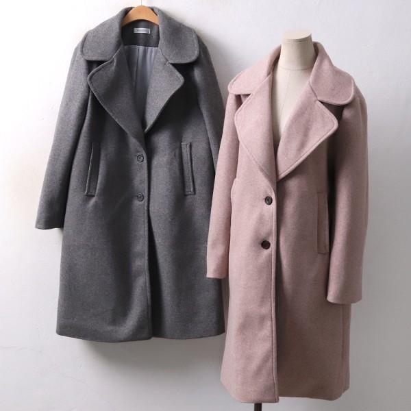 둥글 카라 울 코트 BA3969M812  도매 배송대행 미시옷 임부복