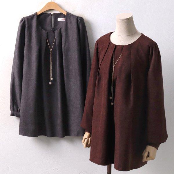 펄네클체인블라우스 BG3980M812  도매 배송대행 미시옷 임부복