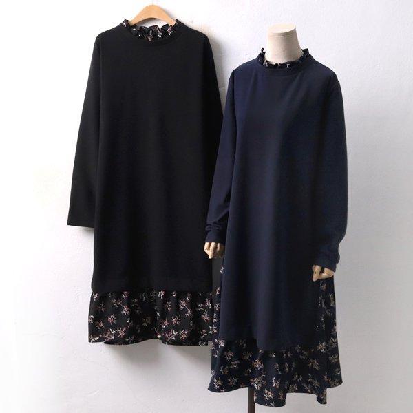 기모 프릴꽃 원피스 PE3995M812  도매 배송대행 미시옷 임부복