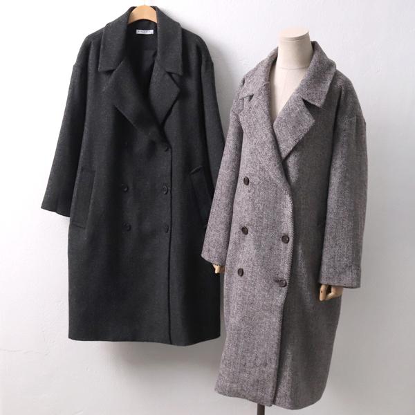 잔헤링본 울 코트 RD4213M901  도매 배송대행 미시옷 임부복