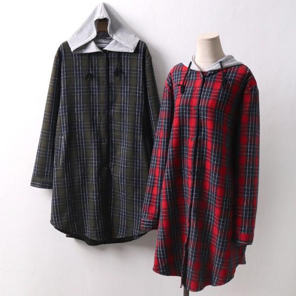 배색후디 기모코트 IR4261M901  도매 배송대행 미시옷 임부복