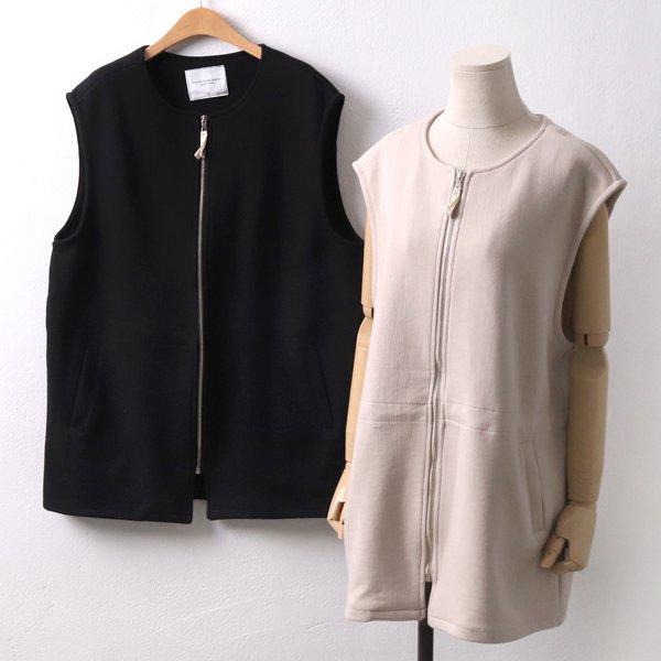 스트링 집업 조끼 SM4359M902  도매 배송대행 미시옷 임부복