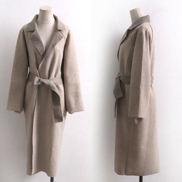 오픈 카라 롱 코트 LS4376M902  도매 배송대행 미시옷 임부복