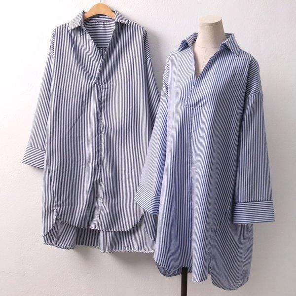 오픈줄지셔츠원피스 TR4407M902  도매 배송대행 미시옷 임부복