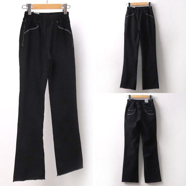 라인 부츠컷 블랙진 LO4423M902  도매 배송대행 미시옷 임부복