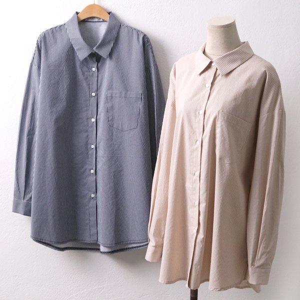 전체줄지 포켓셔츠 PE4431M902  도매 배송대행 미시옷 임부복