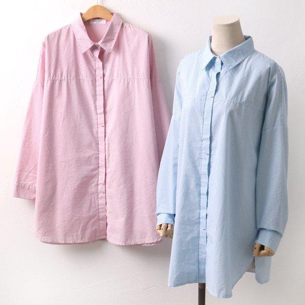 레드포인트줄지셔츠 OK4453M902  도매 배송대행 미시옷 임부복