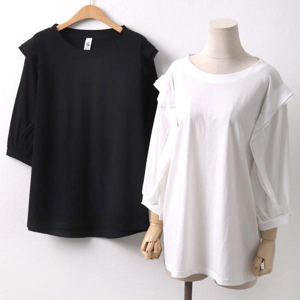 프릴 7부 라운드 티 GO5059M904  도매 배송대행 미시옷 임부복