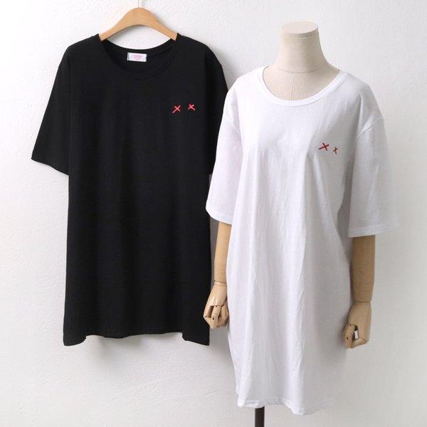 프렌즈쉽 롱 반팔티 CH5072M904  도매 배송대행 미시옷 임부복