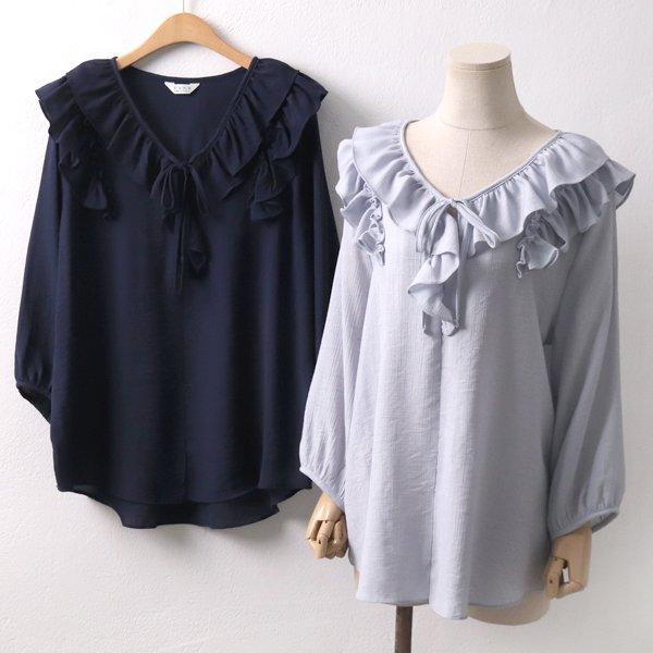 리본 홀릭 블라우스 PE5078M904  도매 배송대행 미시옷 임부복