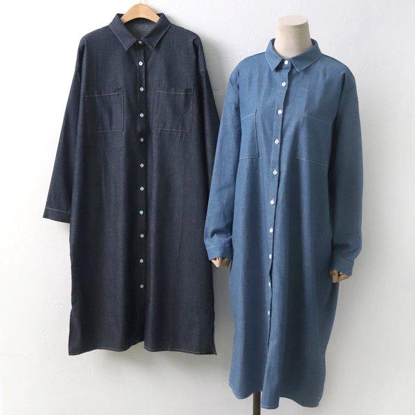 청남방포켓롱원피스 DL5081M904  도매 배송대행 미시옷 임부복