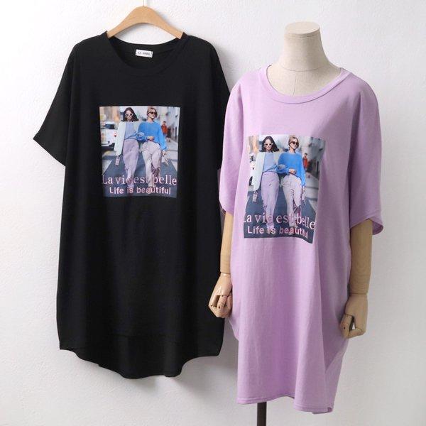 언발라비에롱반팔티 RA5088M904  도매 배송대행 미시옷 임부복