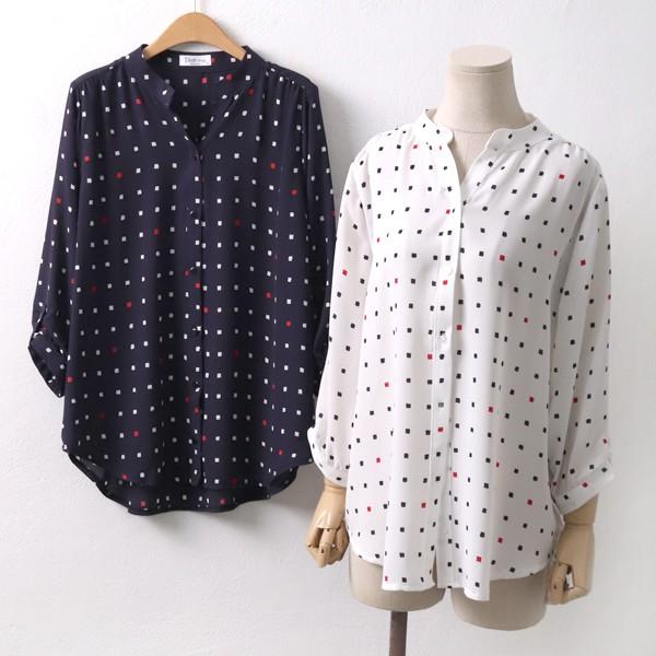 스퀘어아트블라우스 OL5090M904  도매 배송대행 미시옷 임부복