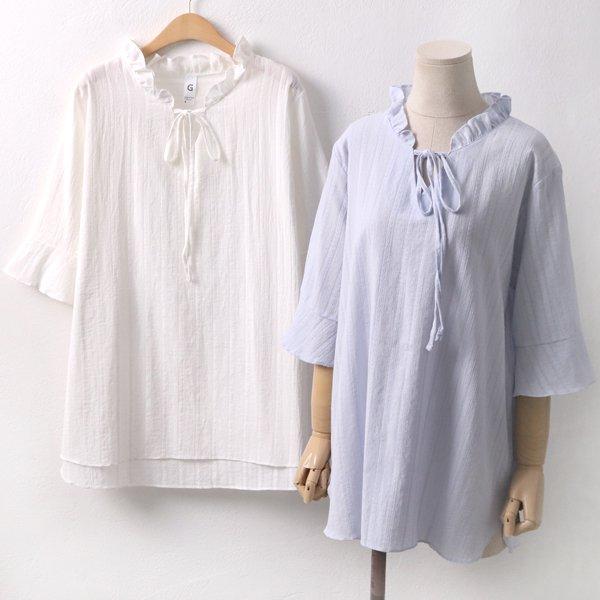 자수 프릴 블라우스 GO5092M904  도매 배송대행 미시옷 임부복