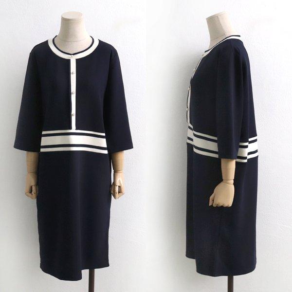펄 무드 배색원피스 BS5094M904  도매 배송대행 미시옷 임부복