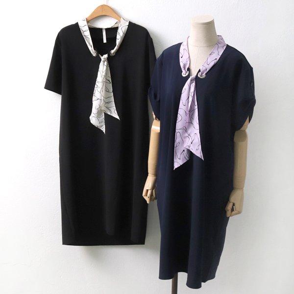 웨이브스카프원피스 HG5095M904  도매 배송대행 미시옷 임부복