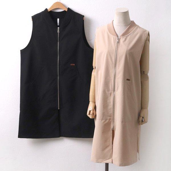 지퍼 포켓 베스트 MN5205M905  도매 배송대행 미시옷 임부복