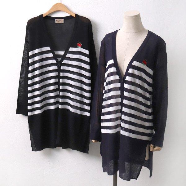 줄지포인트롱가디건 RM5269M905  도매 배송대행 미시옷 임부복