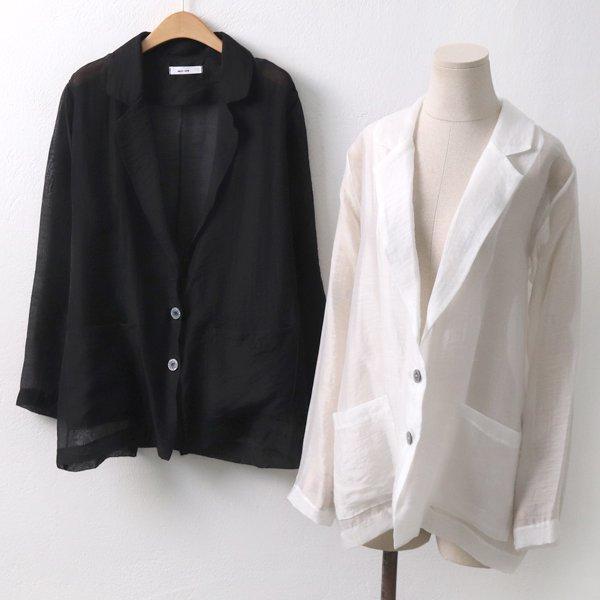 시스루 투버튼 자켓 NN5312M905  도매 배송대행 미시옷 임부복