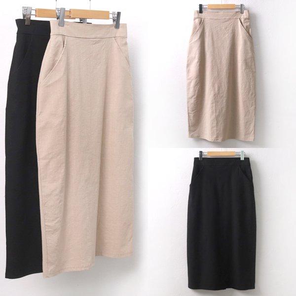단아린넨롱스커트 WW5448M905  도매 배송대행 미시옷 임부복