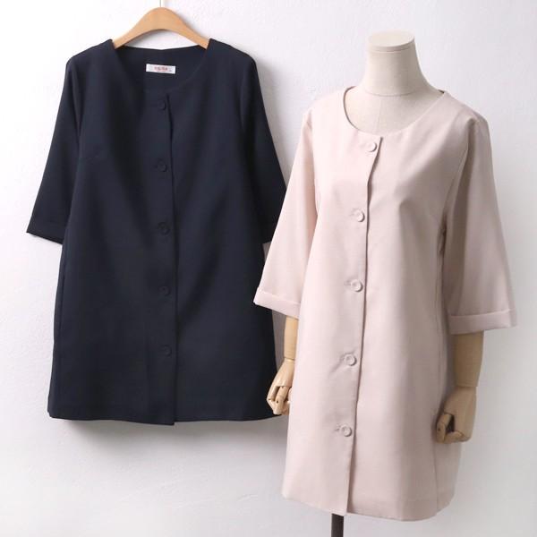 투 포켓 라운드자켓 BG5491M905  도매 배송대행 미시옷 임부복