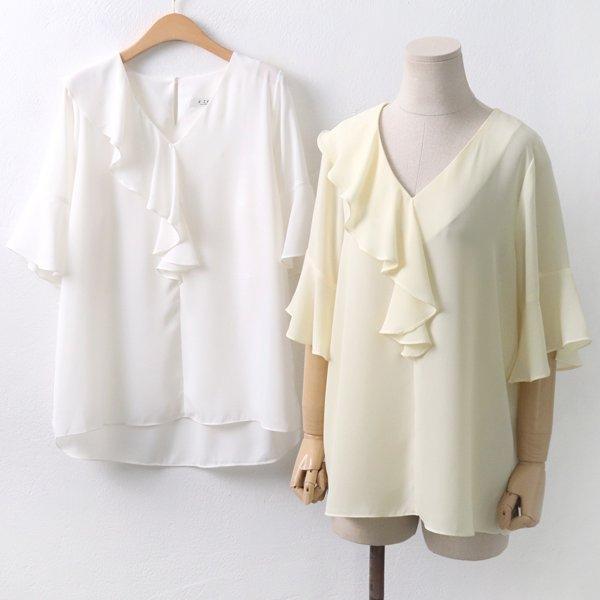 스프링프릴블라우스 GY5616M906  도매 배송대행 미시옷 임부복