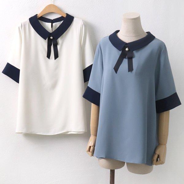 릴리브로치블라우스 BG5617M906  도매 배송대행 미시옷 임부복