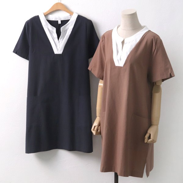 레이어드트임원피스 DB5635M906  도매 배송대행 미시옷 임부복