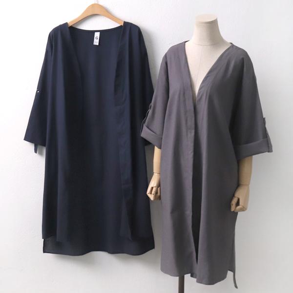 린넨롤업오픈가디건 GO5651M906  도매 배송대행 미시옷 임부복