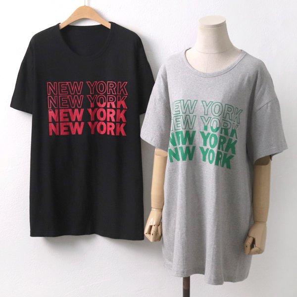 뉴욕레터링반팔티 PU5656M906  도매 배송대행 미시옷 임부복