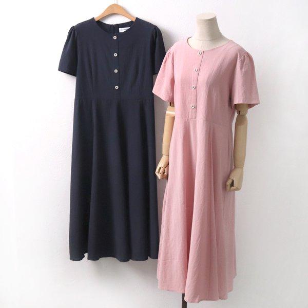 포버튼코튼롱원피스 DL5665M906  도매 배송대행 미시옷 임부복
