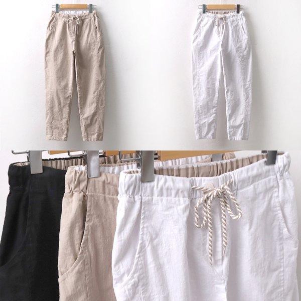 스크류끈밴딩면바지 MD5694M906  도매 배송대행 미시옷 임부복