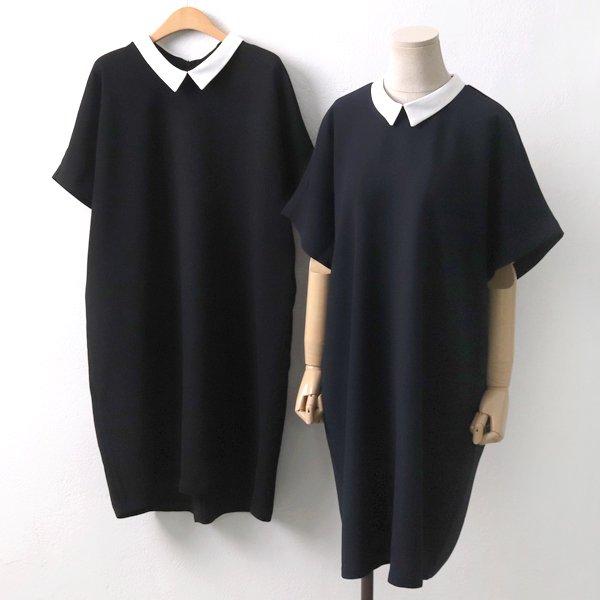 화이트카라롱원피스 BE5704M906  도매 배송대행 미시옷 임부복