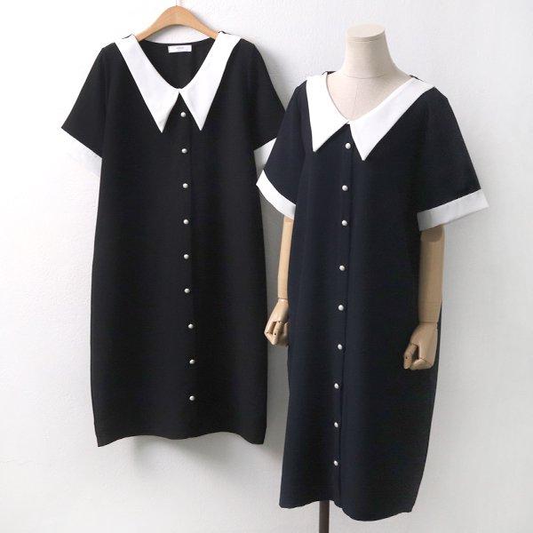 버튼러버롱원피스 BE5982M907  도매 배송대행 미시옷 임부복